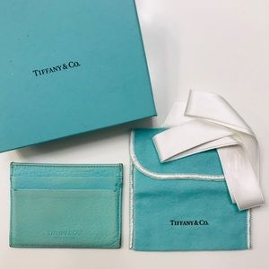 TIFFANY & CO. Leather Business Card Holder w box
